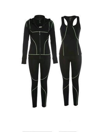 Новинка!!! шикарный спортивный костюм тройка 3 в 1 для фитнеса, бега, d832ffbae61