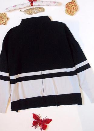 Свободный свитер в полоску оверсайз реглан джемпер кофта