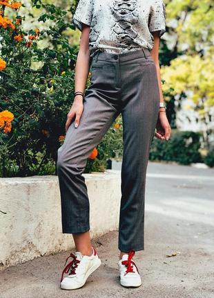 Классические серые брюки размер s h&m