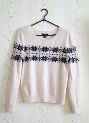 Шерстяной свитер h&m