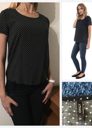 Классная блуза/футболка в горох💕