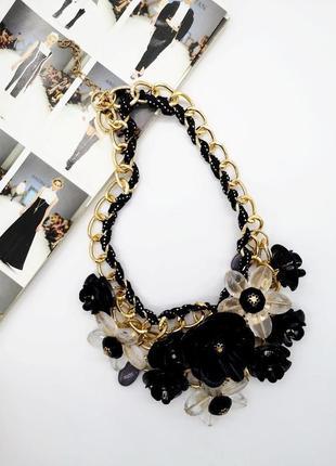 Колье ожерелье. стильное колье. ожерелье  цветочное. супер цена.