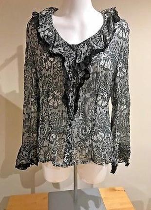Блузка блуза с кружевом кружевная шифоновая ажурная moda at george рубашка