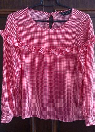 Ефектна шифонова блуза-рубашка dorothy perkins, 12-14