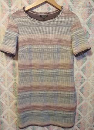 Платье в полоску принт плотная ткань