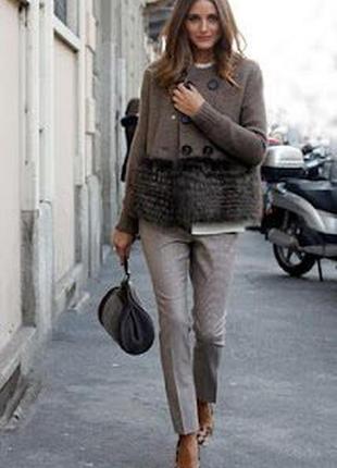 Классические брюки в принт из шерсти