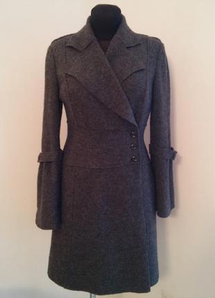 Теплейшее пальто из шерсти на запах