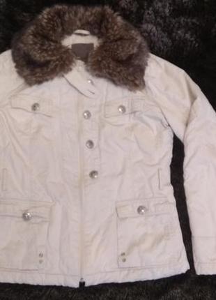 Куртка фирменная mexx осенняя с меховым отстегивающимся  воротником