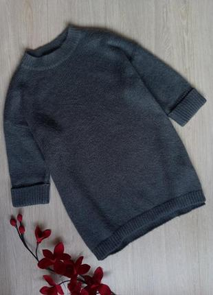 Оверсайз свитер / кофта / джемпер sisley