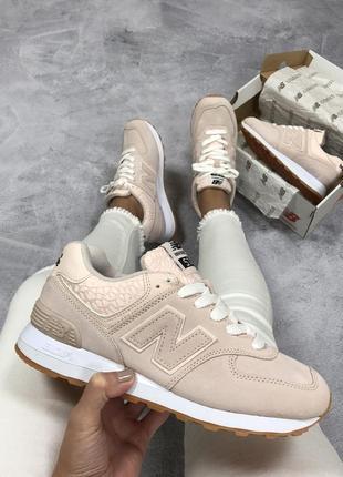 Нежные женские кроссовки new balance 574 c9191c3aee482