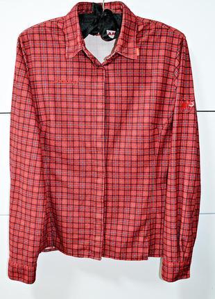 Очень крутая брендовая теплая рубашка mammut оригинал