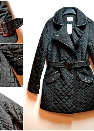 Брендовая куртка пальто удлиненная, стеганая, курточка демисезонная