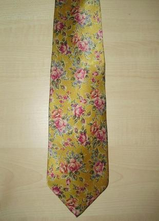 Etro milano (оригинал) галстук с цветочным узором