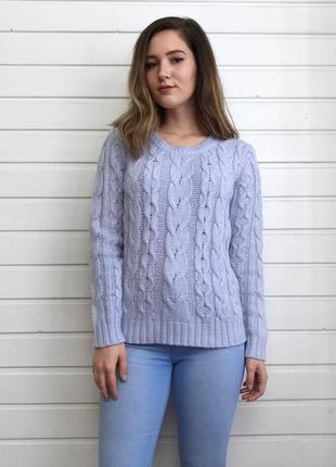 Нежно-голубой свитер atmosphere