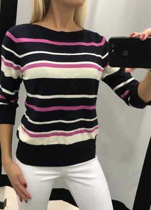 Легкий полосатый свитер. джемпер в полоску. свитер в полоску.