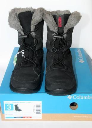 Зимние ботинки-полусапоги для девочки columbia, р.34