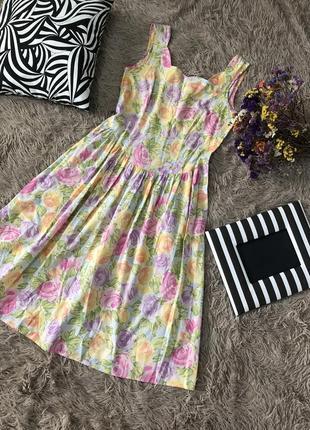 Воздушное платье миди в цветы