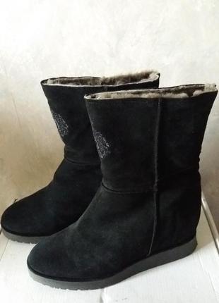 Продам новые замшевые сапоги - зима