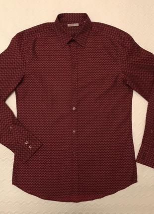 Рубашка kenzo бордовая оригинал