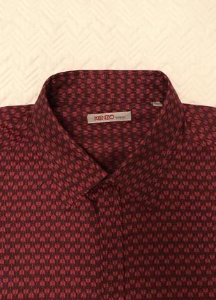 Рубашка kenzo бордовая оригинал4 фото
