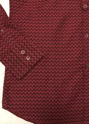 Рубашка kenzo бордовая оригинал5 фото