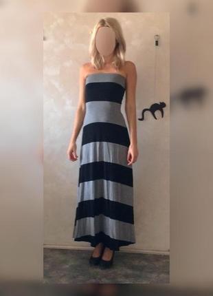 Макси платье в полоску old navy