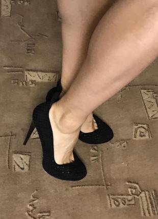 Шикарные чёрные женские туфли лодочки asos 39 размер