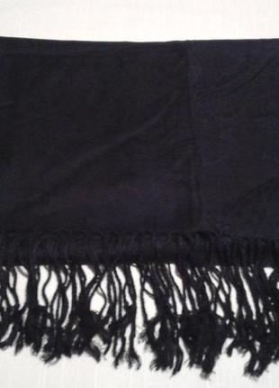Палантин шарф  черный esmara накидка