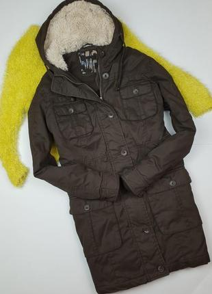 Парка коричневая куртка cecilia