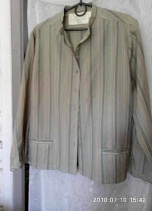 Великобритания. шелковистая блуза, жакет с карманами, высочайшего качества