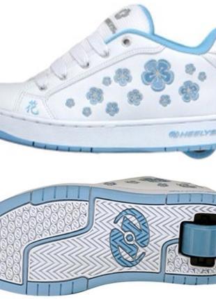 Кроссовки с роликами heelys для девочки 33 размер стелька 20,5 см