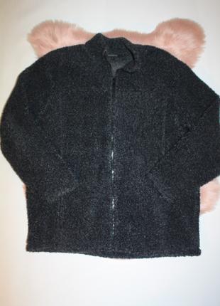 Пальто (куртка-кофта или эко шуба искусственный мех) букле плюш тедди батал george (к035)