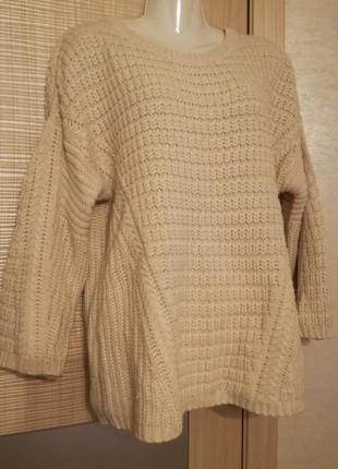 Объемный,тёплый свитер оверсайз крупная вязка от atmospheretmosphere