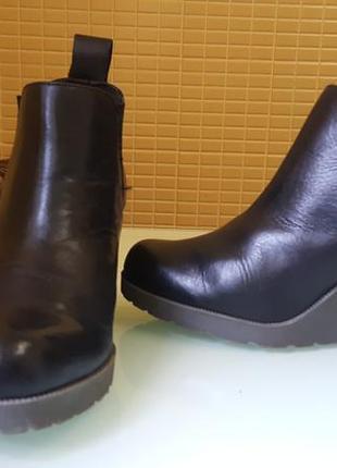 Невероятные кожаные ботинки на танкетке dr martens original