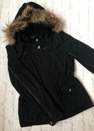 Стильная качественная тёплая осенняя парка куртка