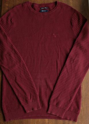 Мужской лёгкий хлопчатый свитер gant