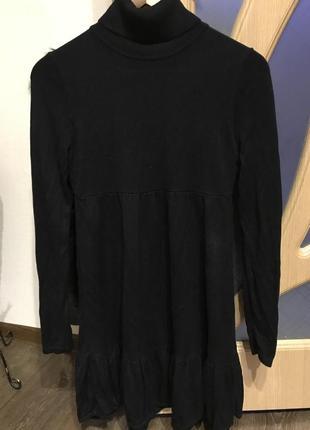 Теплое платье черное h&m