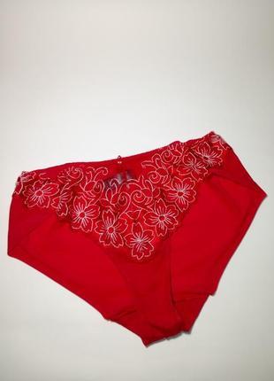 Красные сексуальные трусики с вышивкой marks&spencer uk 14 / 42 / l