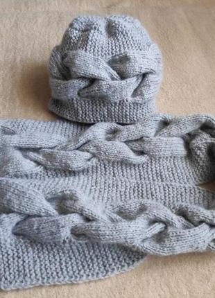 Набор шапка и шарф ручной работы