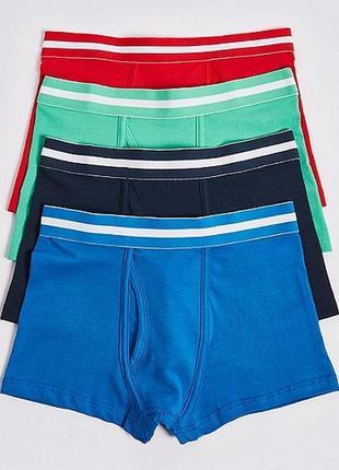 Стильные боксерки 4 шт для мальчиков marks&spencer, англия. размер 2-3 года