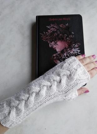 Митенки. перчатки без пальцев. варежки в киеве. варежки