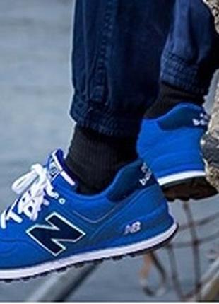 Синие кроссовки new balance 574 оригинал 768712e9407f4