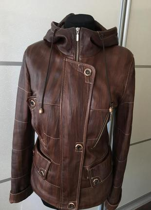 Кожаная куртка-парка2 фото