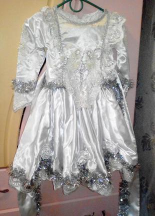 Новогоднее нарядное платье принцессы для девочки