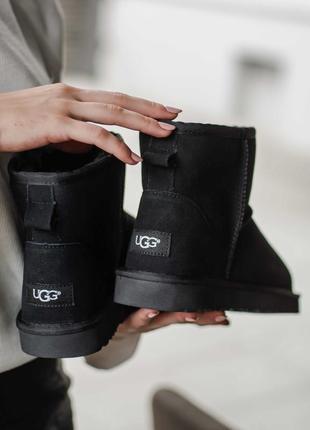 Ботинки женские ugg classic mini black новая коллекция 36-40 размеры