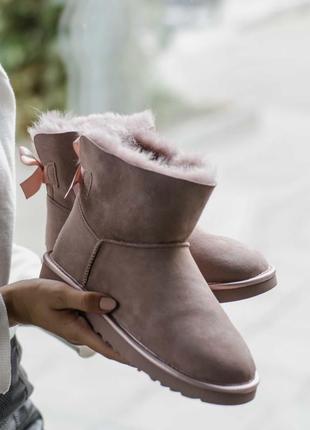 Ботинки женские ugg mini bailey boow новая коллекция 36-40 размеры