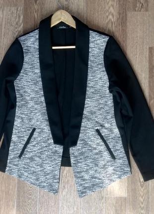 Стильный комбинированный жакет пиджак