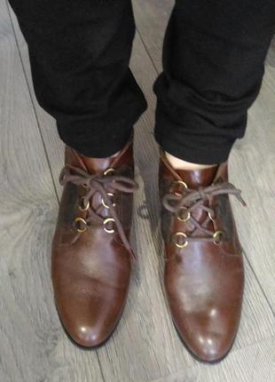 Кожаные ботинки topshop 39p