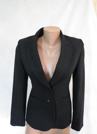 Черный приталенный жакет пиджак от next