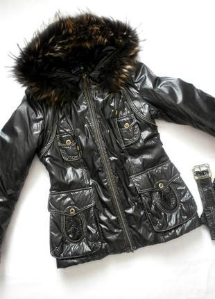 Демисезонная куртка, черная зимняя курточка